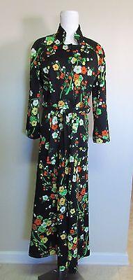 Vtg 70's Hippie Flower Child Maxi Dress Black Festival Wear Handmade? Fits @ 10 - Hippie Flower Child