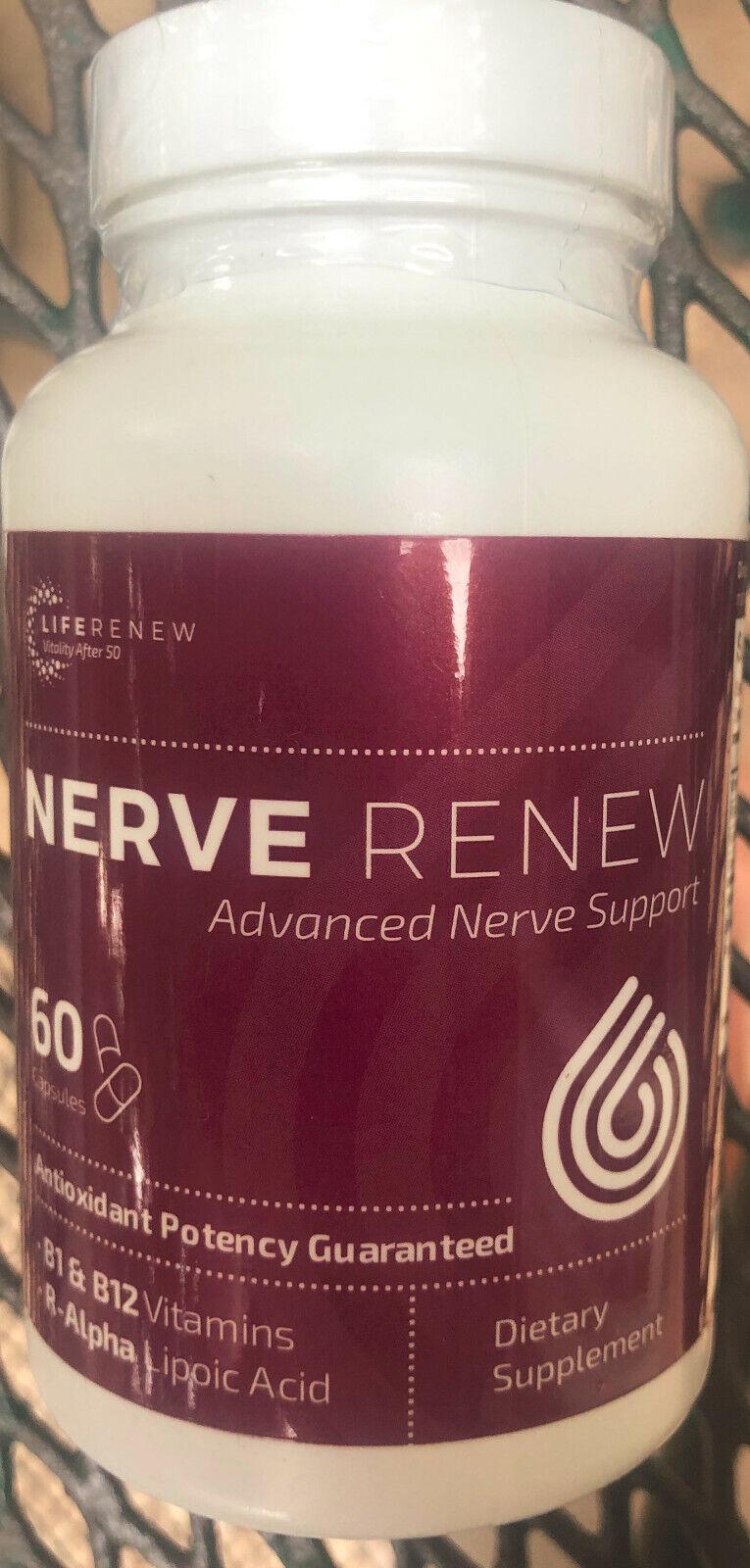 NerveRenew Nerve Renew Neuropathy Repair Formula B1 B12 Vita R-Alpha 60 Caps NEW
