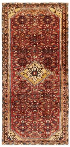 Hand Knotted Tribal Wool Rust Nomadic Oriental Rug Runner 4