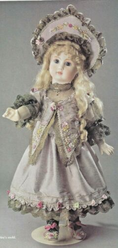 "24""ANTIQUE FRENCH GERMAN STEINER DOLL@1880 RIBBON EMBROIDERY DRESS HAT PATTERN"