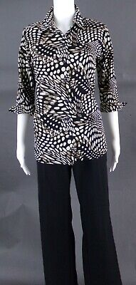 NEW YORK & COMPANY BROWN-TAN-BLACK-BEIGE PANT SUIT - SIZE 12