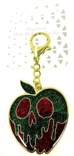 Disney Parks Poison Apple Flair Bag Charm Keychain Snow White 7 Dwarfs Brand New