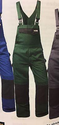 Latzhose 2189 Arbeitshose grün schwarz Mischgewebe Größe 44