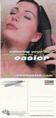 NEW BASICS COLORING BRUSH UNUSED ADVERTISING COLOUR POSTCARD (a)