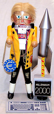 Steinbach Nutcracker: Millennium Man Signed by Christian Steinbach 1999