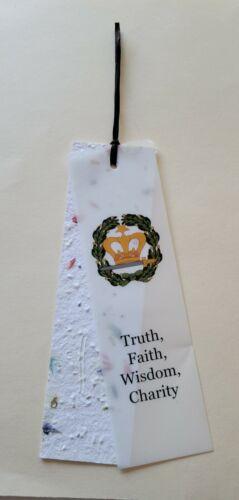 3 for $6  Amaranth Book Mark  Truth, Faith, Wisdom, Charity