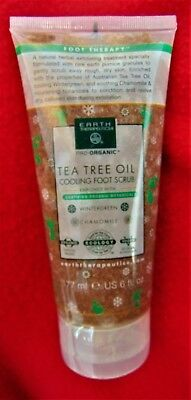 Earth Therapeutics Tea Tree Oil Cooling  Foot Scrub 6 Fl Oz   Brand New