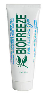 BRAND NEW BIOFREEZE PAIN RELIEVING GEL 4 OZ TUBES GENUINE BIOFREEZE