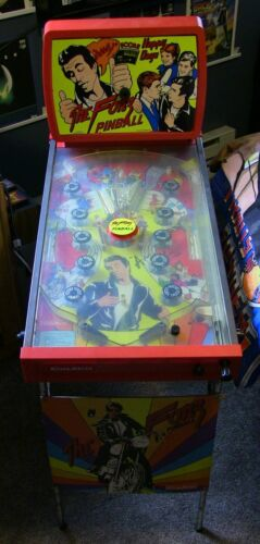 """Vintage """"THE FONZ"""" Pinball HAPPY DAYS Complete W/ Box WORKING 1977 COLECO!!!"""