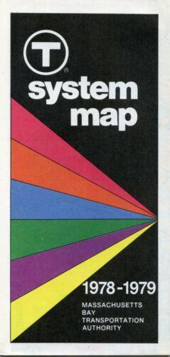 Mint 1978 - 1979 Boston Subway Bus Rail T Map MBTA
