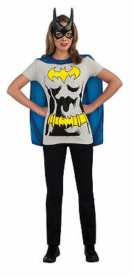 Batman Dark Knight Cowl Mask Batgirl Sexy Shirt Adult Womens Costume Kit Heroine ()