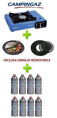 FORNELLO DA TAVOLO BISTRO CAMPINGAZ CON VALIGETTA + GRIGLIA + 8 CARTUCCIE A GAS