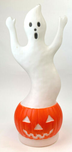 Vintage Dan Featherstone 1992 UNION Blow Mold Ghost & Pumpkin Halloween