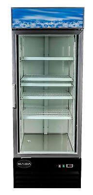 Jse - Saba 13 Cu Ft Commercial Merchandiser Freezer Display Case 1 Glass Door