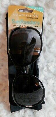 1 Pr Magnivision Black Plastic Foster Grant SunReaders Reading SunGlasses (Magnivision Sunglasses)
