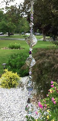 Healing Purple Suncatcher/Prism W/Swarovski Element Feng Shui Crystal Ball USA