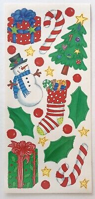 CHRISTMAS THEMED 5X12 IN. SHEET ME & MY BIG IDEAS STICKERS TREE PRESENTS HOLLY ()