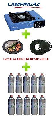 FORNELLO DA TAVOLO BISTRO CAMPINGAZ CON VALIGETTA +GRIGLIA + 10 CARTUCCIE A GAS