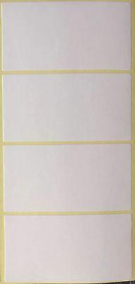 32 Klebeetiketten, ca. 65 x 33 mm, Etiketten Weiß Selbstklebend