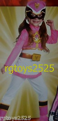 Power Rangers Megaforce Size 3-4 Toddler Pink Ranger Costume New Girls](Pink Power Ranger Costume Toddler)