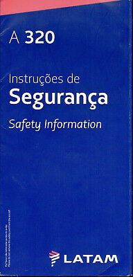 Latam Ex Lan Chile Aviation Safety Card A 320 In Portuguese Language