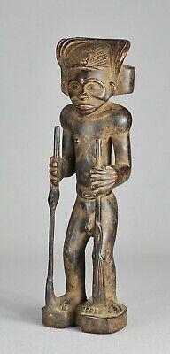 CHOKWE Congo chibida Ilunga figure Tshokwe African Tribal Art statue 0888