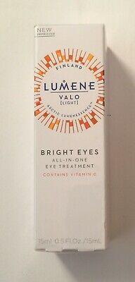 LUMENE VALO LIGHT BRIGHT EYES ALL IN ONE- EYE TREATMENT- 0.5oz ~ Sealed Bright Eyes Light