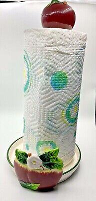 NEW Apple paper towel holder home kitchen decor bar set  Ceramic base 77213 BHE