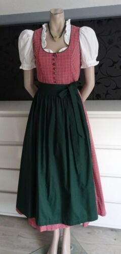 Dirndl Maxi German  Bavarian Dress + Blouse + Apron 4
