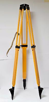 Carl Zeiss wooden Tripod Geodesy Loft Lamp Tripod wooden Vintage Jena Level for sale  Shipping to United States