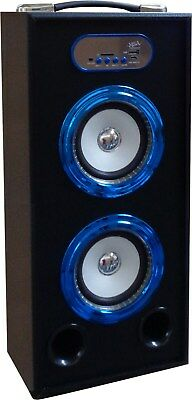 MOBILE BLUETOOTH SOUNDBOX - BLAU - LAUTSPRECHER -RADIO FM-AUX-USB-SD-MP3- BOX15