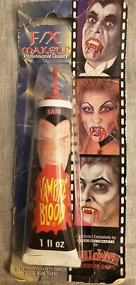 Vintage Halloween Vampire Blood SEALED NEW F/X Make Up Pro Quality 1oz.