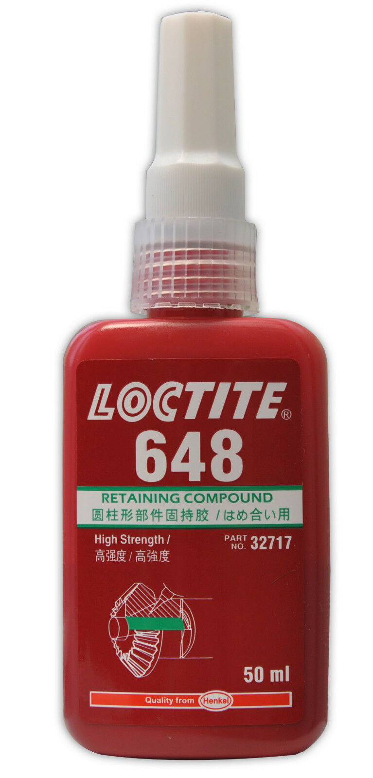 Loctite 648 Retaining Compound 50ML high strength. High temperature resistance. Adhesives & Tape