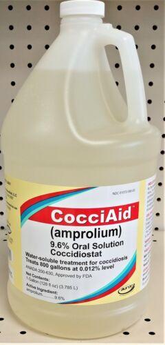 CocciAid 9.6% Gallon Amprolium Coccidiosis Drench or Water administration