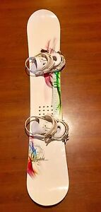 NS Pandora snowboard and bindings