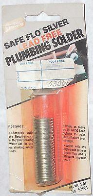 Oatey Safe Flo 53061 Silver Plumbing Solder .084 Diameter 1oz
