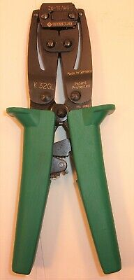 Greenlee K32gl Ratcheting Crimper 26-10 Awg Wirehand Crimping Tool Ferrules