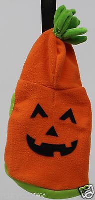 Halloween Martha Stewart Orange Pumpkin Hoodie Pet Dog Coat Size XSmall NWOT (Martha Stewart Hoodie Halloween Costumes)