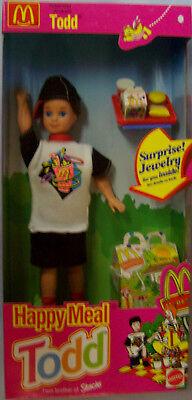 "8"" 1993 McDonalds Happy Meal TODD Doll w/Accessories Barbie's friend Mattel NRFB"