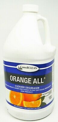 Carroll Clean 158 Orange All Cleaner Degreaser Deodorizer Concentrate 1 Gallon
