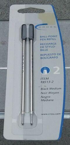 Cross® Refills for Ballpoint Pens, Medium, Black Ink, 2/Pack 073228005058
