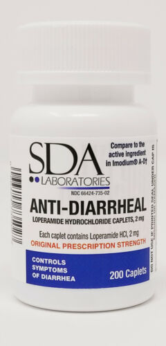 Anti-Diarrheal 2mg HCL 200 Caplets by SDA LABS