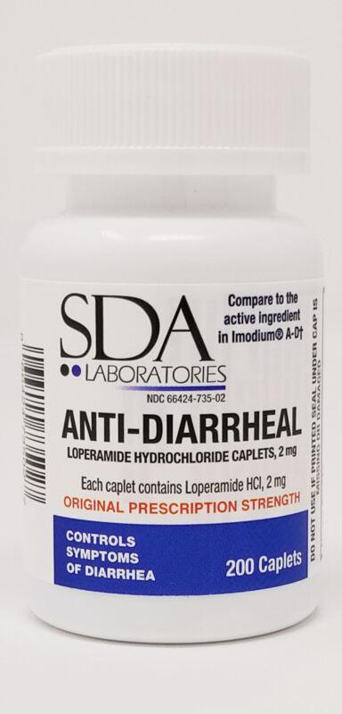 Anti-Diarrheal 2mg HCL 200 Caplets by SDA LABS