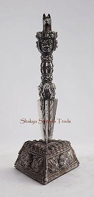 """8.5"""" Hand Crafted Phurba/Phurwa Set - Tibetan Buddhist Ritual Dagger from Nepal"""