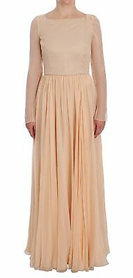NWT $5800 DOLCE & GABBANA Dress Beige Silk Ball Gown Full Length IT40 / US6 / S