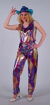 Disco Rainbow Kostüm Gr. 36 - 42 Showtanz 70er 80er 90er Bad Taste (Tanz Show Kostüme)