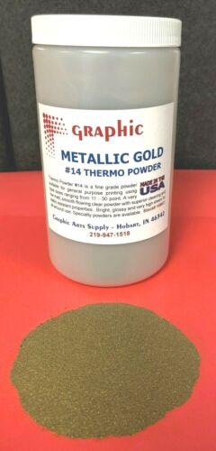 THERMOGRAPHY POWDER METALLIC GOLD #14 NEW 1 POUND
