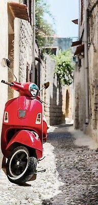 Textilposter Banner Urlaub Italien Motorroller XXL Poster aus Stoff  90x180 cm  ()