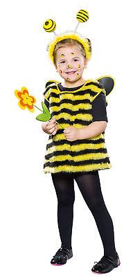 Bienenkostüm Gr.92 Mädchen Kleid mit Flügel Biene Tierkostüm Kostüm - Mädchen Tier Kostüm Kleid