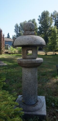 Beautiful Large 6 Tier Japanese Zen Garden Granite Stone Pagoda #A